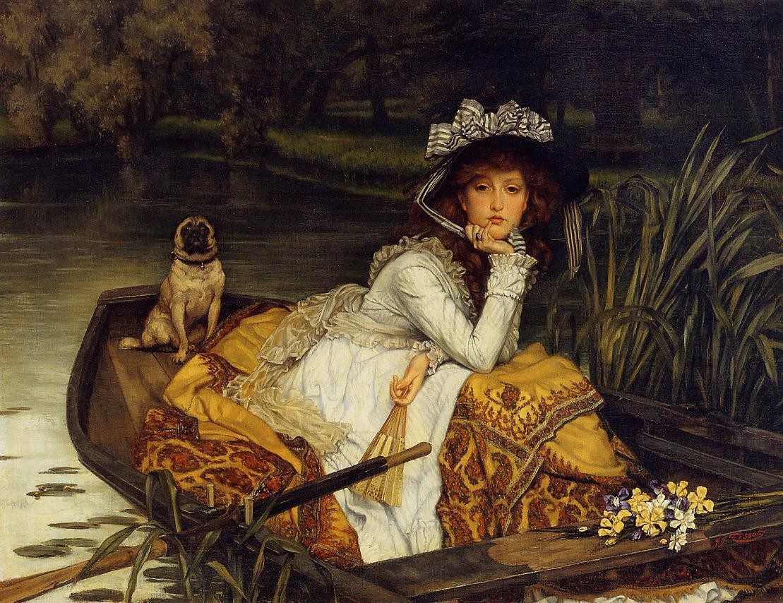 Young woman in a boat, 1870, James Jacques Tissot